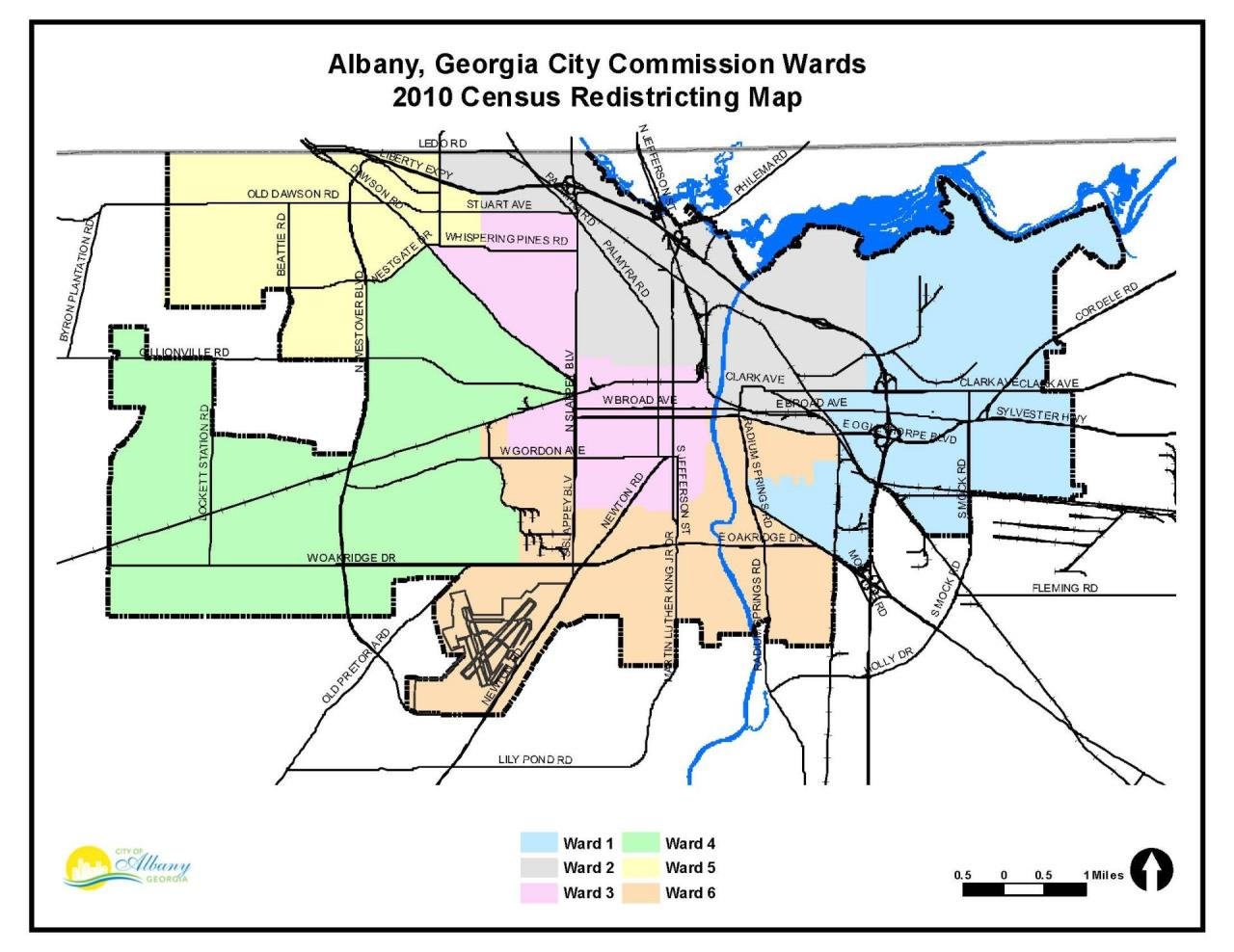 City commission wards map city of albany click image for pdf gumiabroncs Image collections