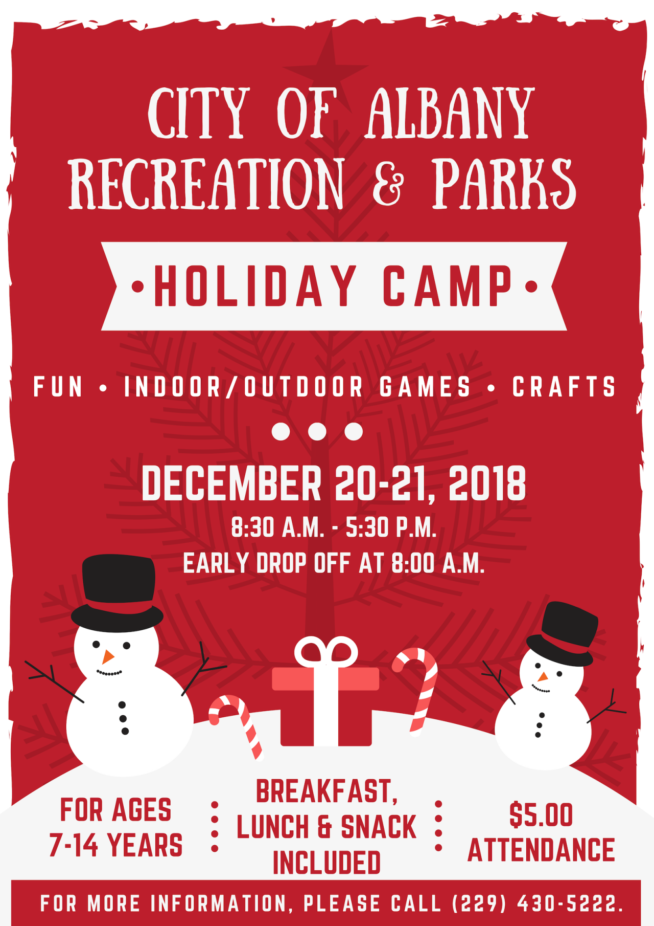 ARPD Holiday Camp 18 Front