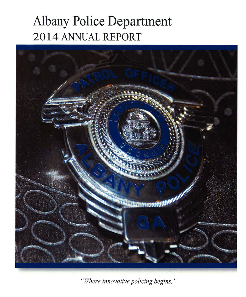 Apd Annual Reports City Of Albany