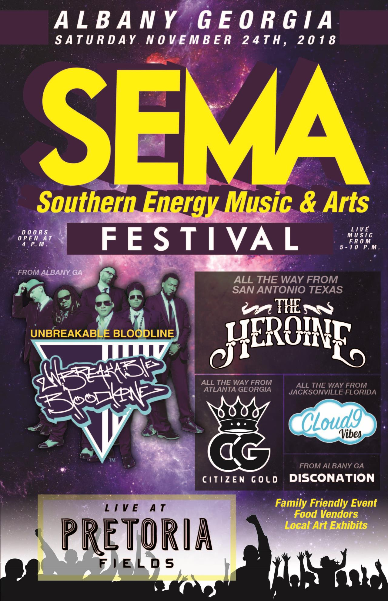Southern Energy Music & Arts Festival   Calendar Month View   City