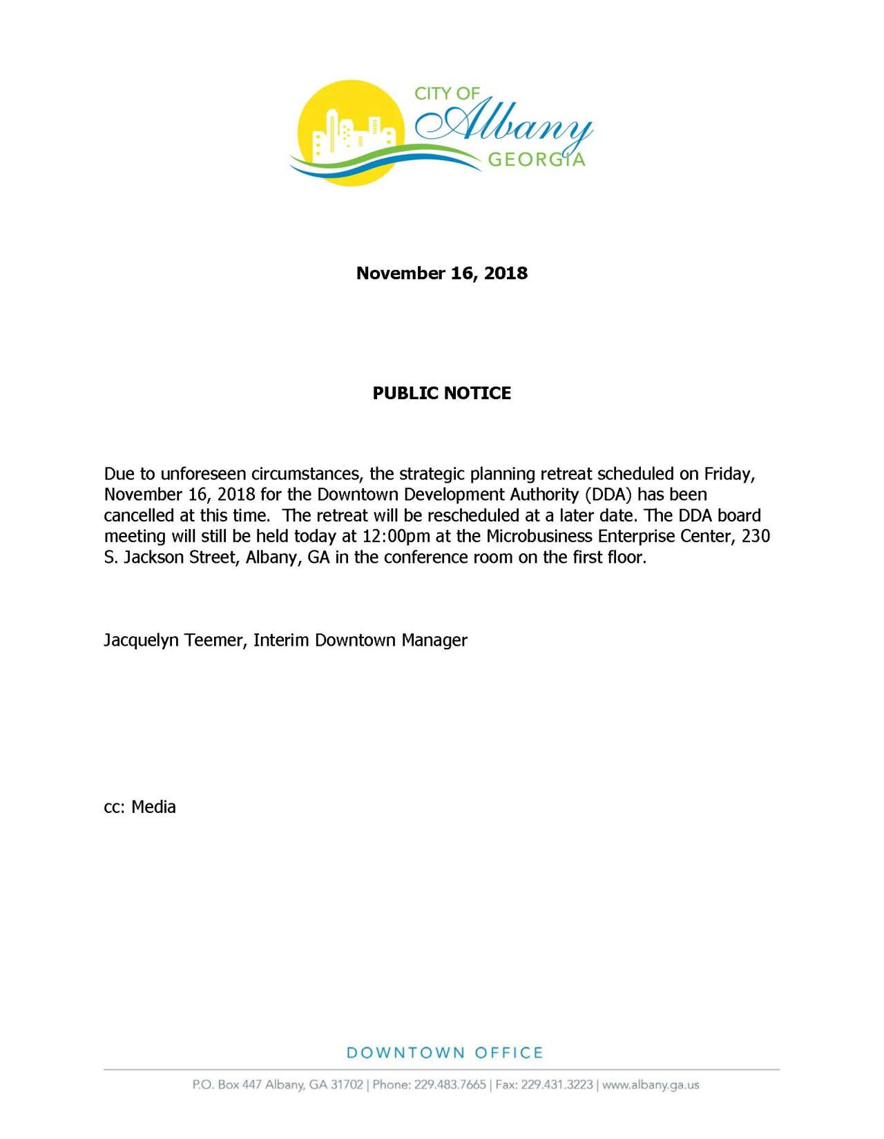 Public Notice of Meeting 11.16.18-revised2
