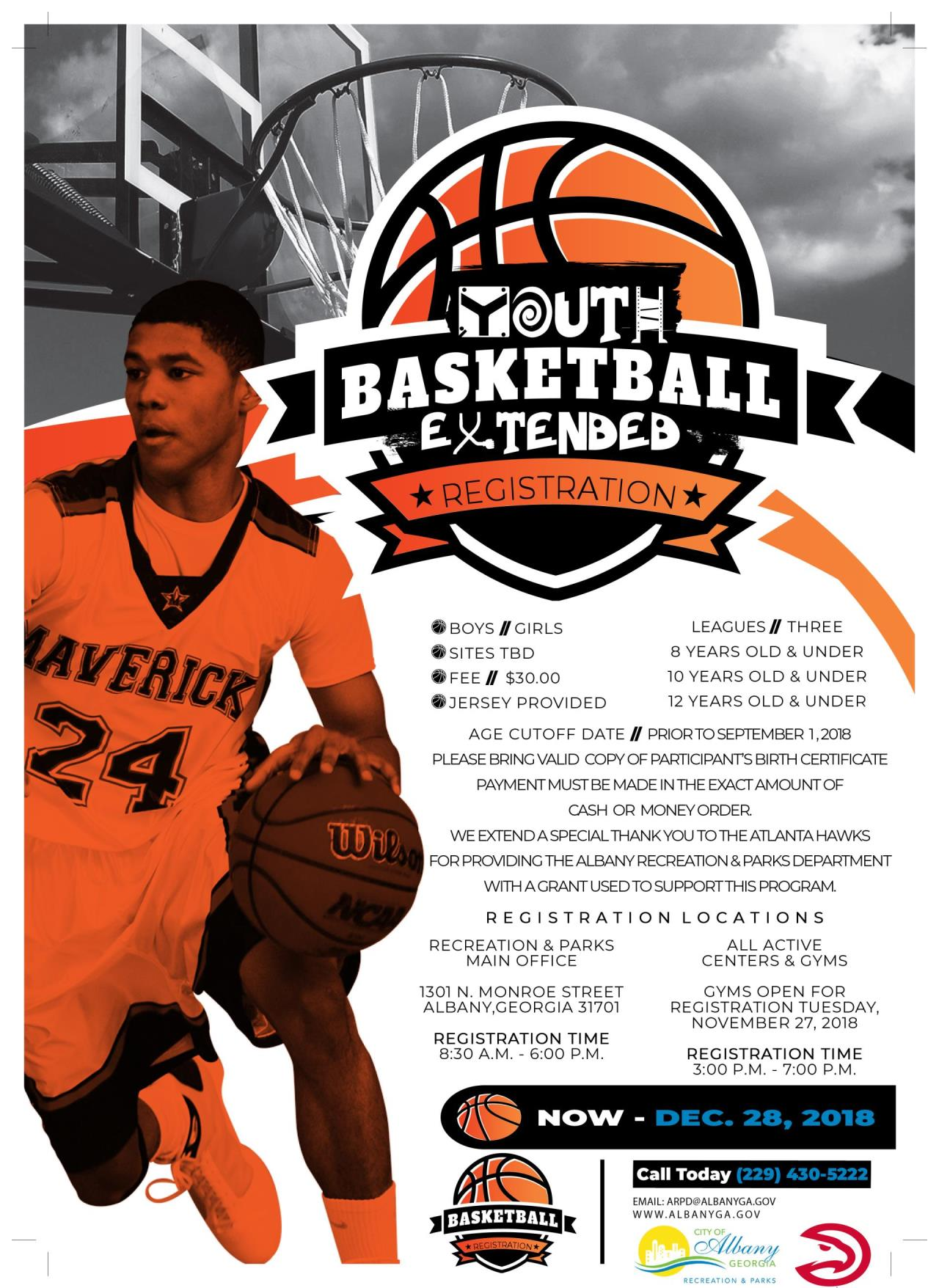 ARPD Youth Basketball Flyer December Edit