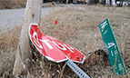 City Contractor Making Progress on Storm Damaged Signs