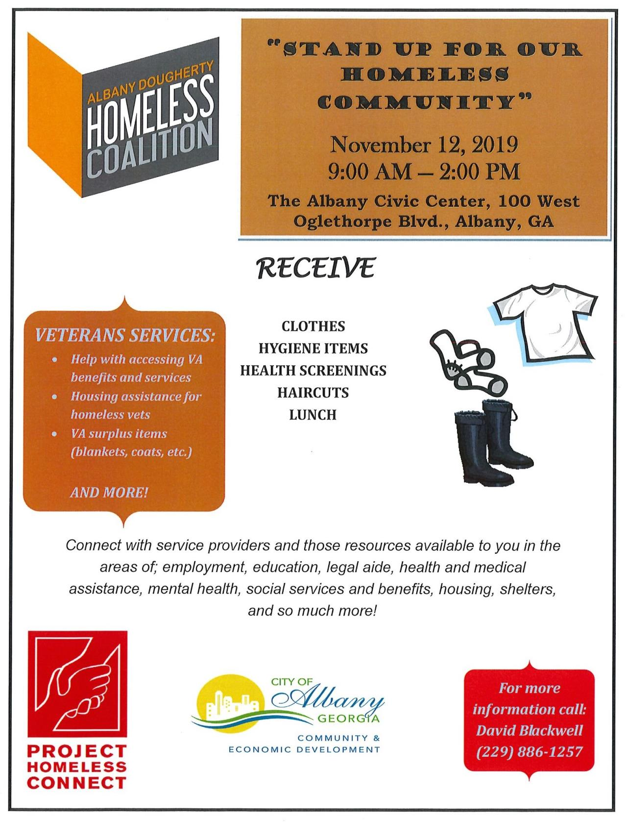Project Homeless Conect  Flyer